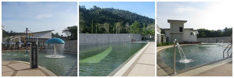 swimming pool condition of Suria Hot Spring