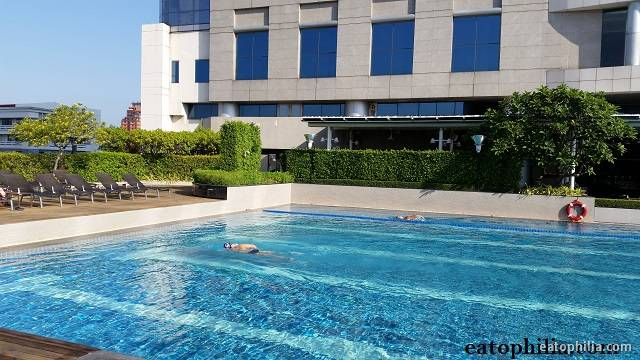 Pathumwan Princess boasts of Olympic size swimming pool and it's super clean!