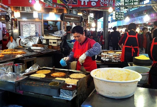 Gwangjang Market at Jongno-5-ga, Seoul city