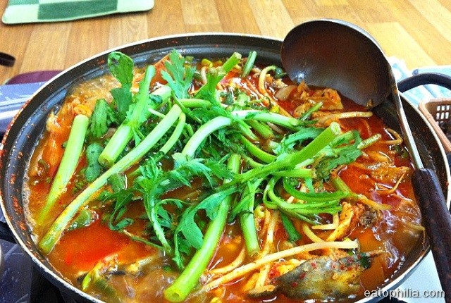 Spicy soup in Noryangjin Fish Market, Seoul