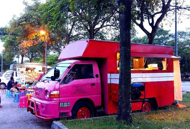 Truck food culture in Setia Alam, Shah Alam.