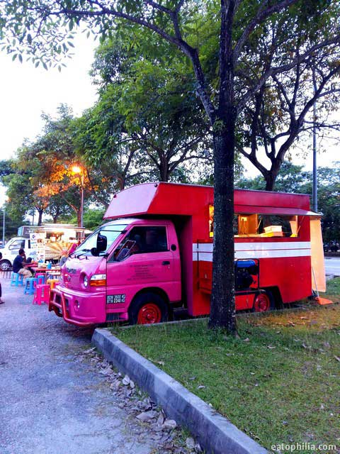 Pink food truck at Setia Alam Central Park