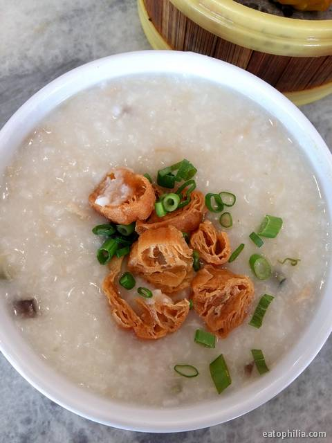 Variety of porridge from Zok Noodle House