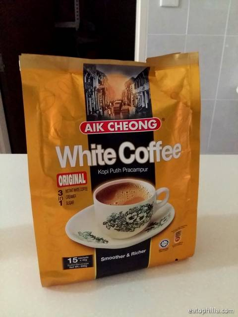 3 in 1 instant white coffee is one of the favourite things to buy from Malaysia