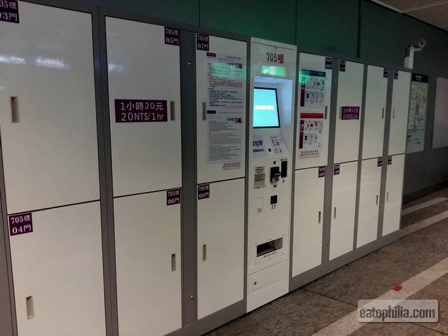 Lockers in Taipei Main Station