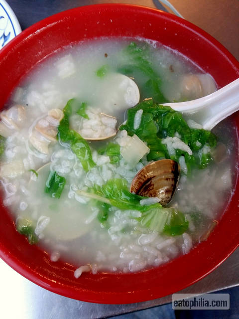 Luodong Nightmarket's clam porridge