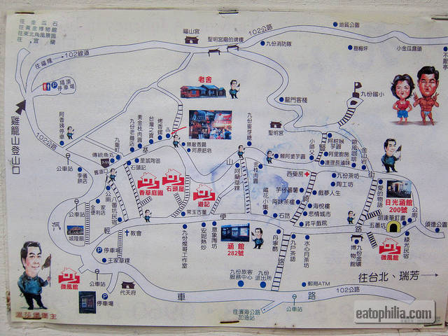A guide map of Jiufen